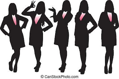 silhouettes, affaires femme