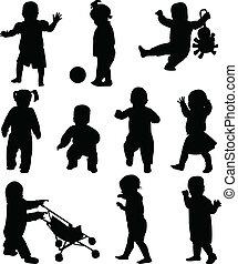 silhouettes, bébés