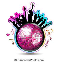 silhouettes, balle, disco
