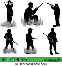 silhouettes, chasseur