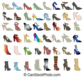 silhouettes, chaussure, 3