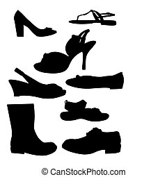 silhouettes, chaussure