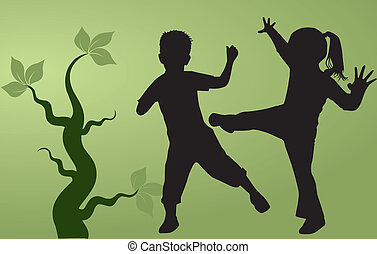 silhouettes, childrens