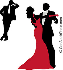 silhouettes, danse
