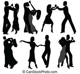 silhouettes, danseur
