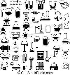 silhouettes, ensemble, mécanismes, dessin animé