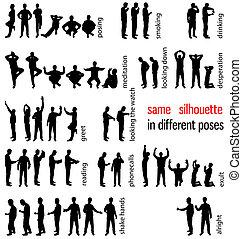 silhouettes, ensemble