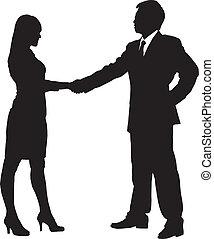 silhouettes, equipe affaires