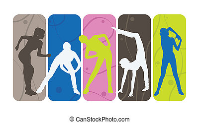 silhouettes, fitness