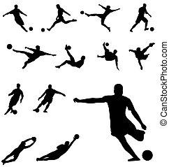 silhouettes, football