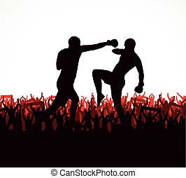silhouettes, gens., poster., sports