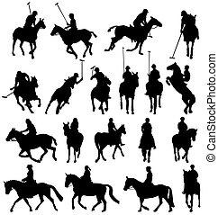 silhouettes, horsebackriding, collection