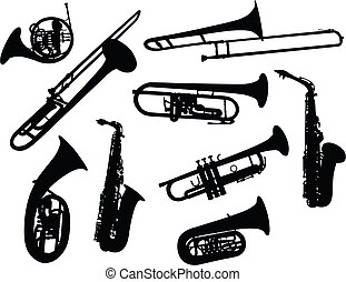 silhouettes, instruments vent
