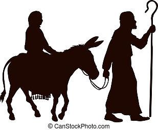 silhouettes, joseph, marie