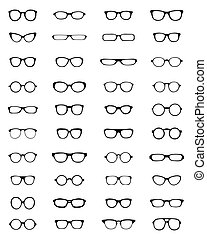 silhouettes, lunettes