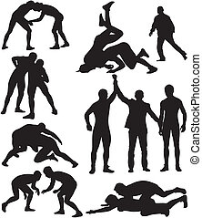silhouettes, lutte