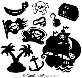 silhouettes, pirate, collection