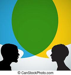 silhouettes, résumé, interlocuteurs