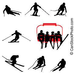 silhouettes, ski, collection