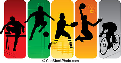 silhouettes, sport
