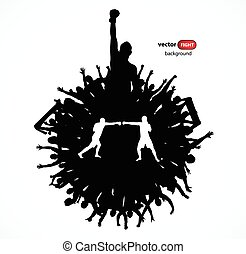 silhouettes, sports, gens