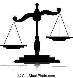 silhouettes, vecteur, balances
