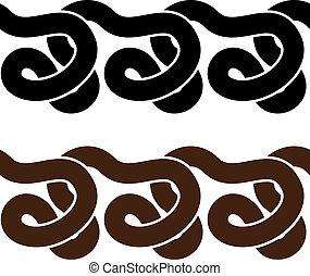 silhouettes, vecteur, serpent, seamless