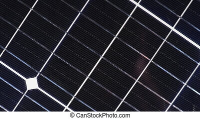 silicium, monocrystalline, panneau, rotate., gaufrette, energy., battery., solaire