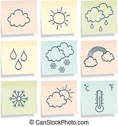 simbols., notes, temps, collant