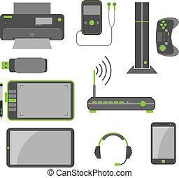 simple, élégant, informatique, appareils