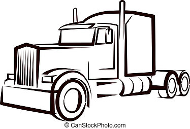 simple, camion, illustration