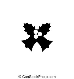 simple, conception, icône, cloches, noël