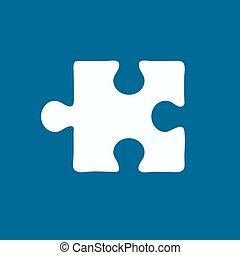 simple, puzzle, icône