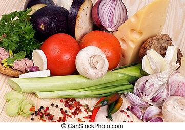 simple, repas, ingrédients