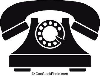 simple, style, téléphone, emmagasiner icône