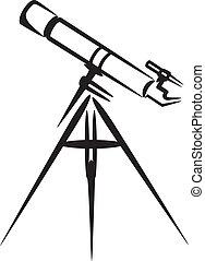 simple, télescope, illustration