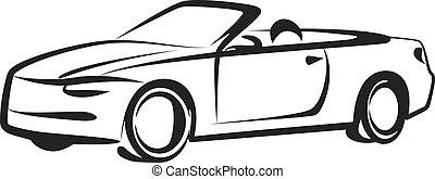 simple, voiture, illustration