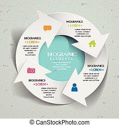 simplicité, gabarit, infographic, conception