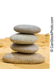 simplicité, sable, harmonie, pur, rocher, équilibre