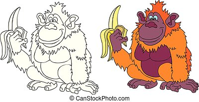 singe, banane