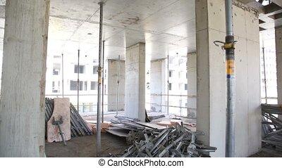 site, panorama, construction, inachevé, niveau