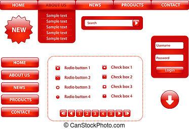 site web, éléments, conception