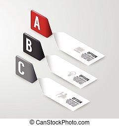 site web, être, graphique, disposition, illustration., diagramme, banner., options, moderne, nombre, flot travail, disposition, utilisé, vecteur, boîte, infographics, conception, options, ou