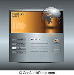 site web, business, gabarit