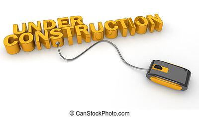 site web, concept, mise jour, construction, sous, ou