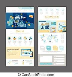 site web, conception, page, gabarit