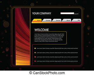 site web, disposition, jaune, couleurs, gabarit, rouges