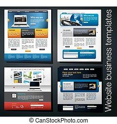 site web, exclusif, business, gabarit