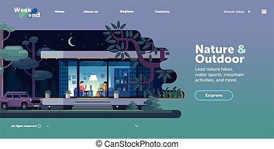 site web, interface, gabarit, conception