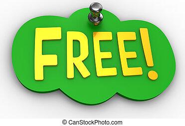 site web, mot, gratuite, épingle, signe